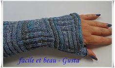 Armstulpe aus Lana Grossa Baumwolle mit Elastan