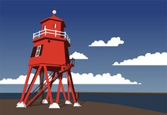 My illustration of the Groyne Lighthouse frm my home town South Shields