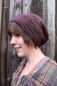 """The classic """"Rikke Hat"""" was designed in 2010 and has since become a worldwide hit. Requiring just one (100 gram) skein of any Dk to light worsted weight yarn, this hat looks stunning in both semi-solid hues and variegated color-ways as the garter stitch design helps to prevent pooling! It is (for the most part) one-size-fits all."""