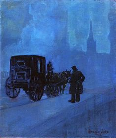 George Luks (1867–1933), A Foggy Night, c1918
