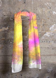 Cashmere Silk Scarf - pink flowers cashmere by VIDA VIDA hoW2sf1mzz