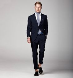 Love the pop of color in the belt. Hackett S/S 2012