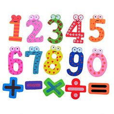 Cren 15pcs Funky Fun Colorful Magnetic Numbers Wooden Fridge Magnets Kids Educational toys CREN http://www.amazon.com/dp/B00X6TR744/ref=cm_sw_r_pi_dp_faHsvb1Q5DFH8