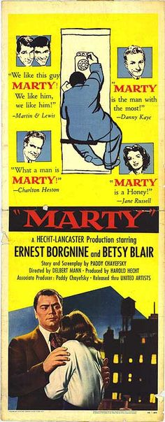 Marty Movie 1955 starring Ernest Borgnine & Betsy Blair