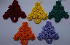 Christmas decorations crocheted  set of 5 by SorinelaSavini