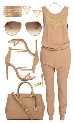 """In The Nude"" by nenedopesauce ❤ liked on Polyvore featuring By Malene Birger, Michael Kors, Liliana, Chloé, Lucky Brand, Dolce&Gabbana and Chan Luu"