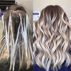 20+ Trendy Hair Highlights Balayage application & finished +Tips – Page 2 – Chic Cuties Blog Ombre Hair Color, Hair Color Balayage, Cool Hair Color, Trendy Hair Colors, How To Bayalage, Balayage Hair How To, Diy Balayage At Home, Hair Color Techniques, Painting Techniques