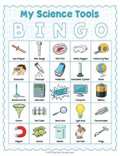 My Science Tools BINGO by Drag Drop Learning | Teachers Pay Teachers Data Science, Science Tools, Learning Centers, Learning Resources, Ab Testing, Fun Classroom Activities, Software, Educational Games For Kids, Matching Cards