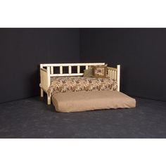 Viking Log Furniture LDBC Log Day Bed with Roll Out Trundle in Clear
