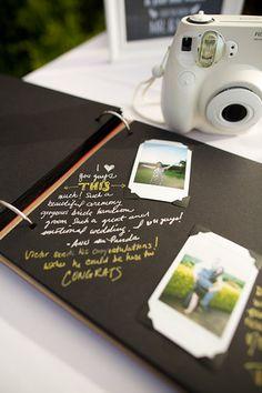 Polaroid Photos for Guest Book idea