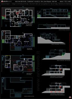 tugendhat house 2d - tugendhat dwg | mies van der rohe | pinterest, Hause ideen