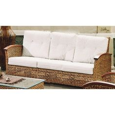 Hospitality Rattan Pegasus Rattan Sofa with Cushions $1367.31