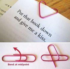heart paper clips DIY valentines craft