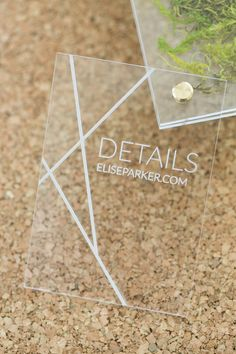 Yonder Design | Custom Event Design, Wedding Inspiration, Custom Invitations, Unique Invitation, Letterpress, Graphic Design, Acrylic Sign, Vinyl Cut Lettering, Modern Wedding, Elegant, Simple, Clean, Etched, Brass Rivets, Laser Etched, Luxury Wedding, Lucite, Modern Moss, Cork and Moss