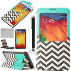 Luxury Leather Flip Smart View Case Cover for Samsung Galaxy Note 3 III N9000 | eBay
