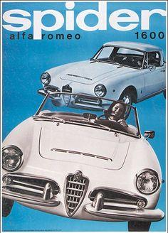 Rudolf Maeder 1965 - Alfa Romeo Spider 1600 poster