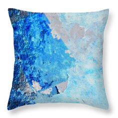 Throw Pillow featuring the photograph Blue Rust by Randi Grace Nilsberg