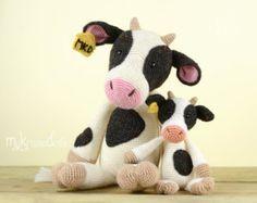 Crochet Pattern - MINI COW