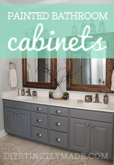 Bathroom updates you can do this weekend - How do you paint bathroom cabinets ...