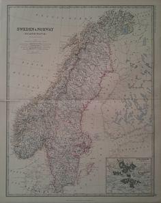 Sweden und Norway 1861 | Munk & Nunna | Antika Tryck