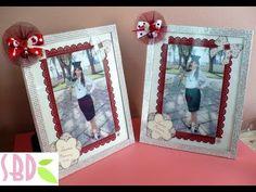 Tutorial scrap: decorazione foto e cornice - frame and photo decoration - YouTube