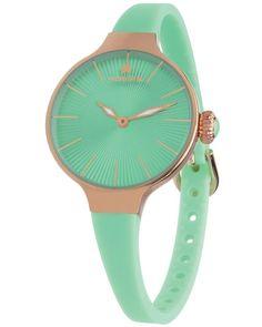 Ρολόι HOOPS Nouveau Cherie Gold Turqoise Rubber Strap - 2583LRG05 - OROLOI.gr Smart Watch, Bracelet Watch, Rose Gold, Watches, Bracelets, Accessories, Products, Smartwatch, Wristwatches
