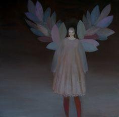 Artist Kristin Vestgard creates dark but pretty and dainty oil paintings, so lovely.