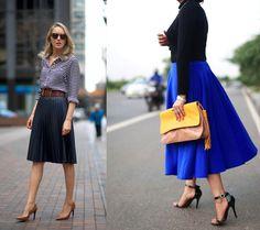 Skirt plisse midi full