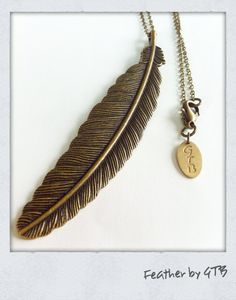 Feather Necklace by girlstelephoneboys, $17.99