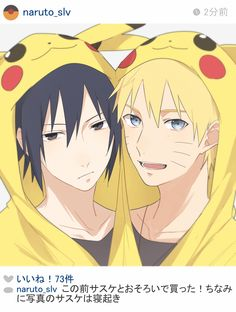 """Picture in pikachu, cute huh ?"" Naruto x Sasuke"