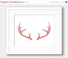 CORAL ANTLERS This listing is for an INSTANT DOWNLOAD of both the PDF and JPEG files of this artwork.    * WE ARE NOT ACCEPTING ANY CUSTOM