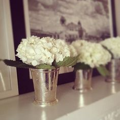 Just in time for Derby, Mint Julip cups used for decor with April's #colorcrush