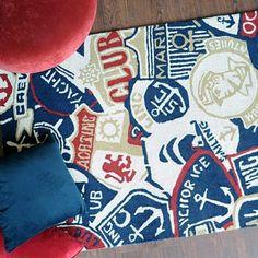 Tapis tufté main sailor multicolore the rug republic 160X230 - Tapis Cosy