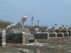 Lions of the Naxians (replicas) Delos Greece