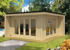 Design Gartenhaus Cubus-Capri-40 Wooden Planters, Dream House Exterior, Luxury Apartments, Beautiful Bedrooms, Modern House Design, Lodges, Modern Lighting, Exterior Design, Custom Homes