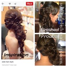 Pintrest inspired bridal hair updo for our Hawaii Bride Hawaii Makeup, Bridal Hair Updo, Side Hairstyles, Mermaid Hair, Hair Trends, Updos, Hair Cuts, Hair Color, Stylists