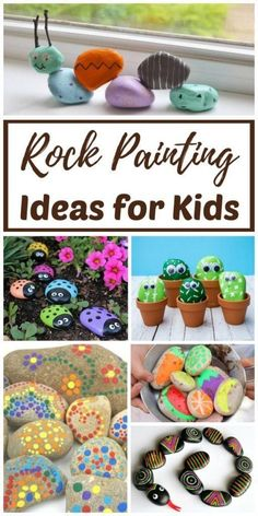 Crafts For Boys Rock Painting Ideas & Painted Rock Crafts! Learn how to paint rocks and explore the best rock painting ideas for kids with the easy ideas. Have you ever found a painted rock in nature? Easy Arts And Crafts, Easy Crafts For Kids, Summer Crafts, Projects For Kids, Art For Kids, Craft Projects, Craft Ideas, Diy Ideas, Kids Nature Crafts