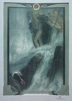 """Franz Stassen """"Der Ring Des Nibelungen: Das Rheingold"""""""