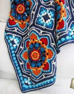Persian Tile Blanket by Jane Crowfoot          Amazing Blanket    The Main Motif (Octagon)                        To Buy The Pattern …   .