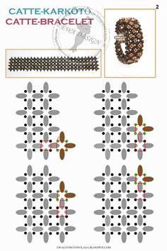 Free Superduo Catte bracelet pattern 2                                                                                                                                                                                 Mehr