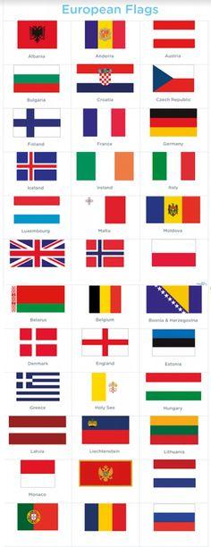 European Flags #Flagsoftheworld #printable #flashcards #flags #flagsaroundtheworld #country #countryflags #countries #worksheet #free #Europe #europeanflags #flagsofeurope