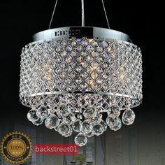Modern LED Crystal Round Pendant Light Ceiling Lamp Chandelier Lighting Φ 40cm on eBay!