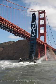 ORACLE TEAM USA will be out sailing today to wish the Bridge a very special day!