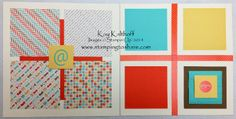 """Retro Fresh Scrapbook Pages from Spring Fling Part Two - Order Your Kit """"to go!"""", Kay Kalthoff, Stamping to Share, Stampin' Up!, Retro Fresh Washi Tape, Retro Fresh Stickers, Retro Fresh Designer Series Paper"""