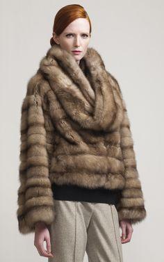 CAROLINA HERRERA Sable Fur Jacket $59,990 | Moda Operandi