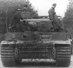 German Tank in Normandy  Taken in 1944