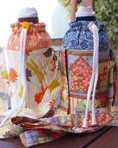 Another water bottle carrier, 'heartofmary' style - PURSES, BAGS, WALLETS: