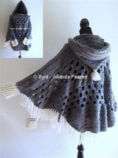 #PATR1032 #Omslagdoek #haakpatroon #patroon #haken #gehaakt #crochet #pattern #scarf #shawl #poncho #DIY #mouwen #capuchon Patroon (NL) is beschikbaar via: Pattern (English-US) is available at: www.xyracreaties.nl www.ravelry.com/stores/xyra-creaties www.etsy.com/shop/XyraCreaties