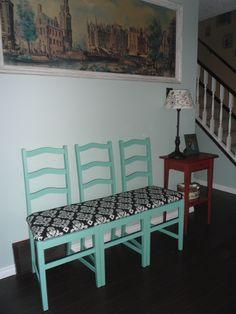 Antique chair bench...and done easy! LW