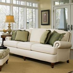 Smith Brothers 358 Traditional Upholstered Sofa ft. Nail Head Trim - Wayside Furniture - Sofa Akron, Cleveland, Canton, Medina, Youngstown, Ohio